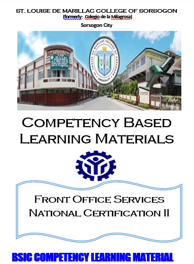FRONT OFFICE SERVICES NC II - Basic Competency